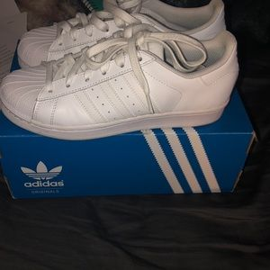 adidas Shoes - All white adidas superstar